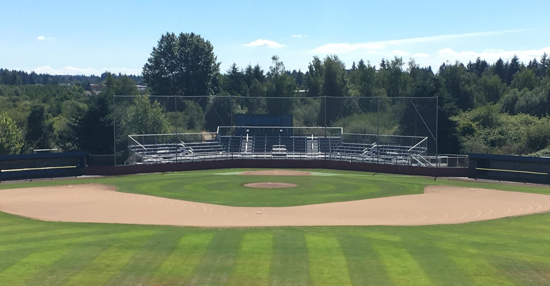 Tacoma community college titans baseball field bleachers view full image malvernweather Image collections